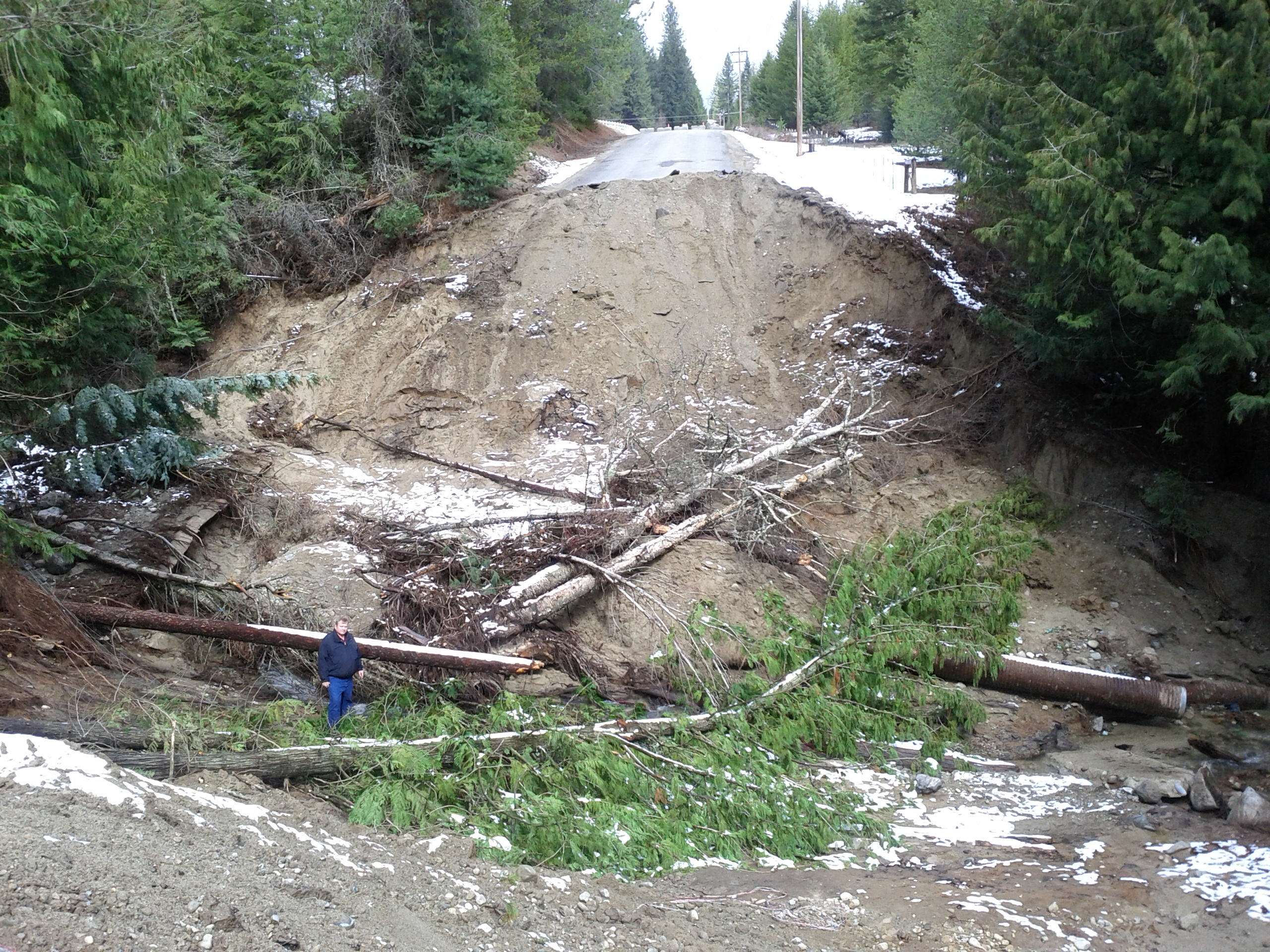 Cocolalla Loop Road Washout photo